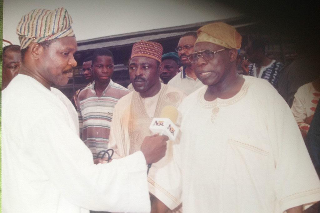 Sola_Atere and Ex President Olusegun Obasanjo